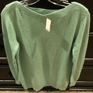 Mint Green LOFT Sweater NWT - Size Medium